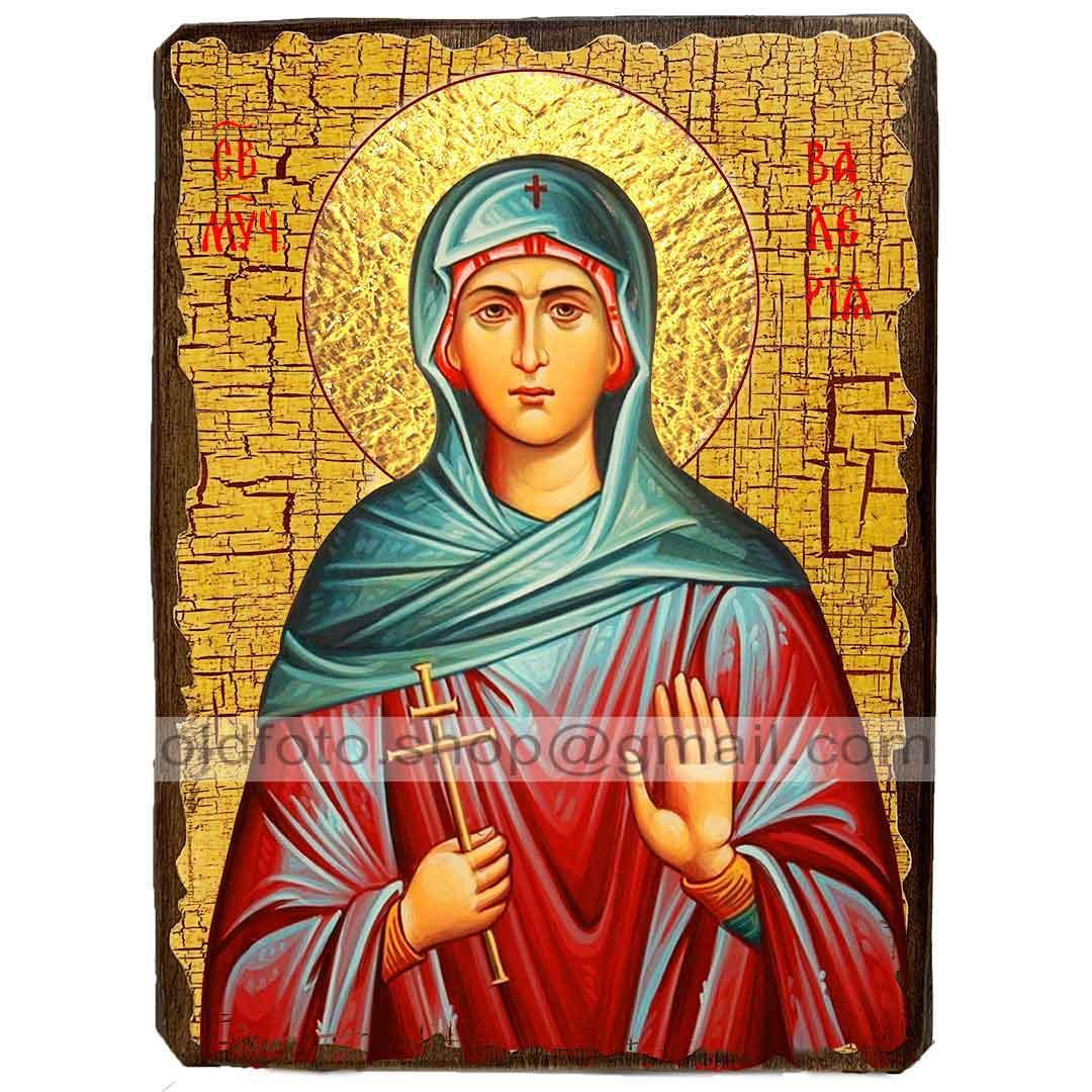 Икона Валерия (Калерия) Святая Мученица Кесарийская (130х170мм)