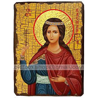 Икона Василиса Святая Блаженная ,икона на дереве 130х170 мм