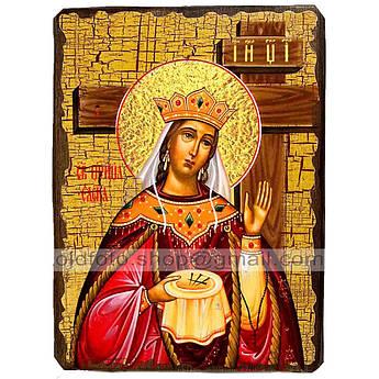 Икона Елена Святая Равноапостольная Царица ,икона на дереве 130х170 мм