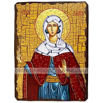 Икона Злата Святая Мученица ,икона на дереве 130х170 мм