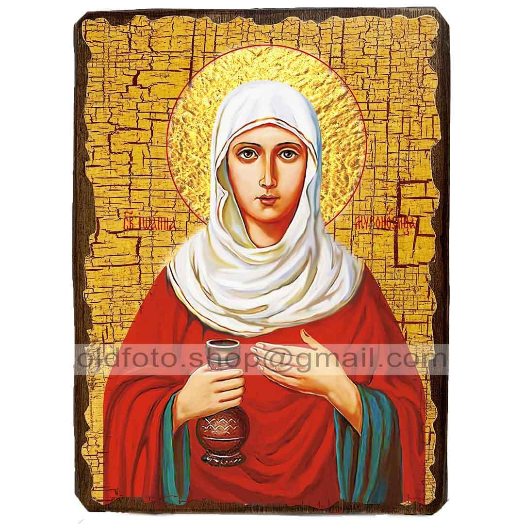 Икона Иоанна Святая Мироносица ,икона на дереве 130х170 мм