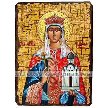 Икона Людмила Святая Мученица Княгиня Чешская ,икона на дереве 130х170 мм