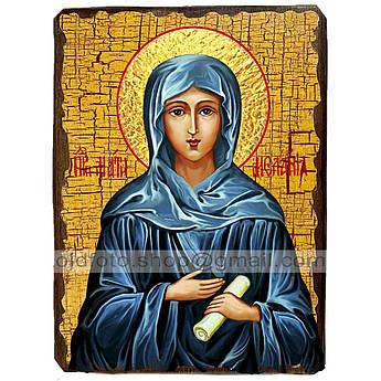 Икона Мелания Святая Римляныня ,икона на дереве 130х170 мм
