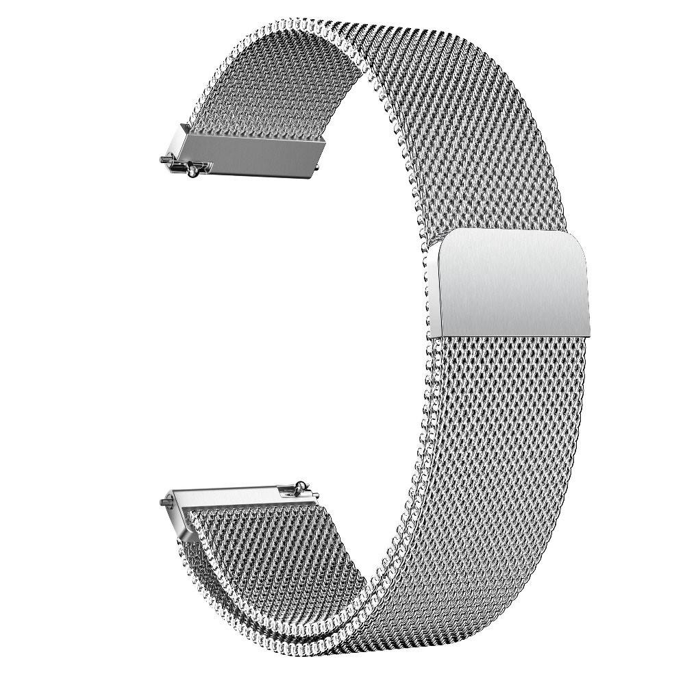 Amazfit Bip / Amazfit GTS  Металлический магнитный ремешок для смарт часов, Silver, ширина - 20 мм.