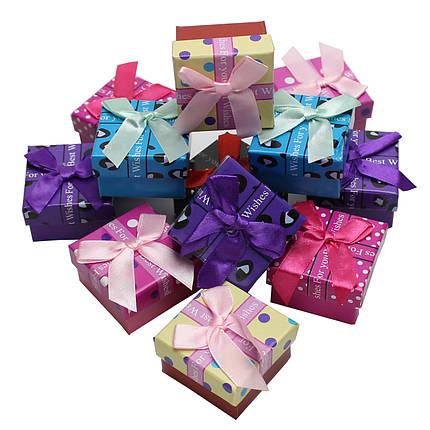 Коробочка подарочная для украшений  5/5/3 см 24 шт./упак. ассорти, фото 2