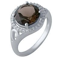Серебряное кольцо  с натуральным раухтопазом , фото 1
