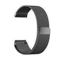 Металлический магнитный ремешок для смарт часов Amazfit Bip / Amazfit GTS Black, ширина - 20 мм.