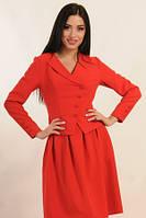 Двубортный укороченный пиджак на подкладке Mylen ruj  RiMa красный