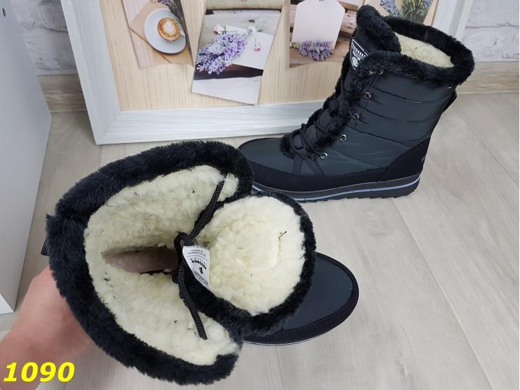 Дутики сапоги зимние на шнуровке очень теплые 36, 37 р. (1090)
