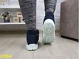 Дутики ботинки зимние на густом меху синие снежинки 36, 40 (1094), фото 6