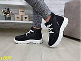 Дутики ботинки зимние на густом меху черные 36, 38, 39 (1095), фото 2