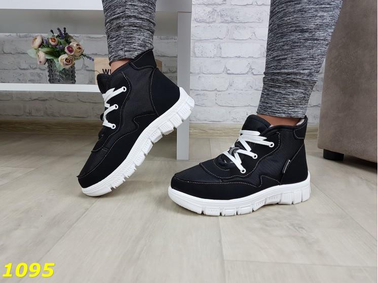 Дутики ботинки зимние на густом меху черные 36, 38, 39 (1095)