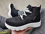 Дутики ботинки зимние на густом меху черные 36, 38, 39 (1095), фото 7