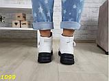 Ботинки спортивные деми на тракторной массивной подошве белые 37, 39 (1099), фото 6