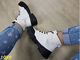 Ботинки спортивные деми на тракторной массивной подошве белые 37, 39 (1099), фото 7