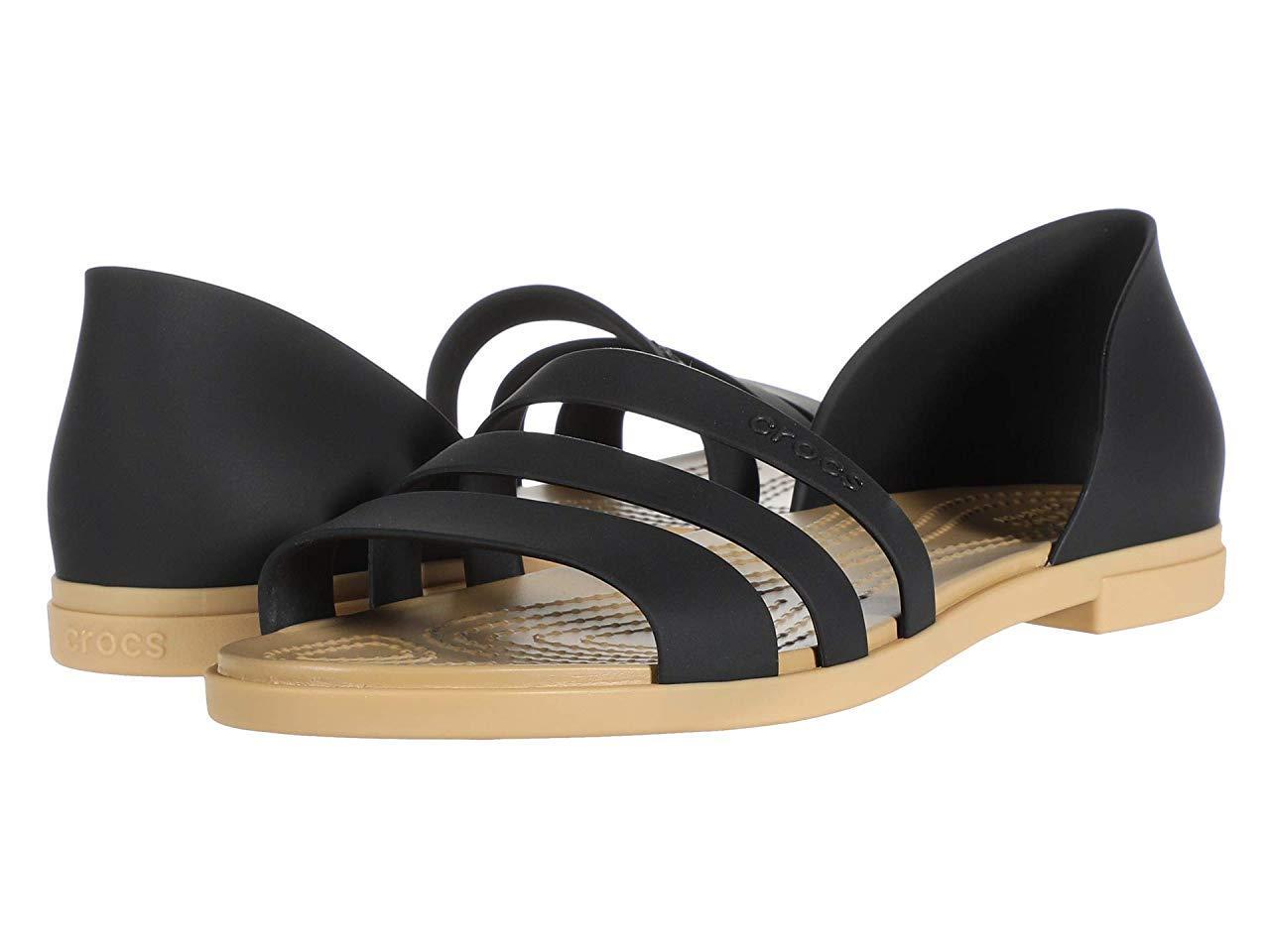 Сандали/Вьетнамки (Оригинал) Crocs Tulum Open Flat Black/Tan
