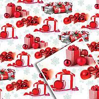 Новогодняя подарочная упаковочная бумага №УП-523