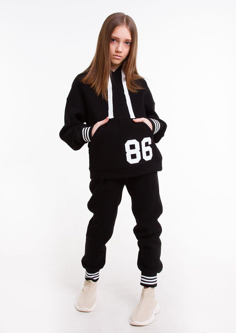 Спортивный костюм для девочки Стрит Черный, 128