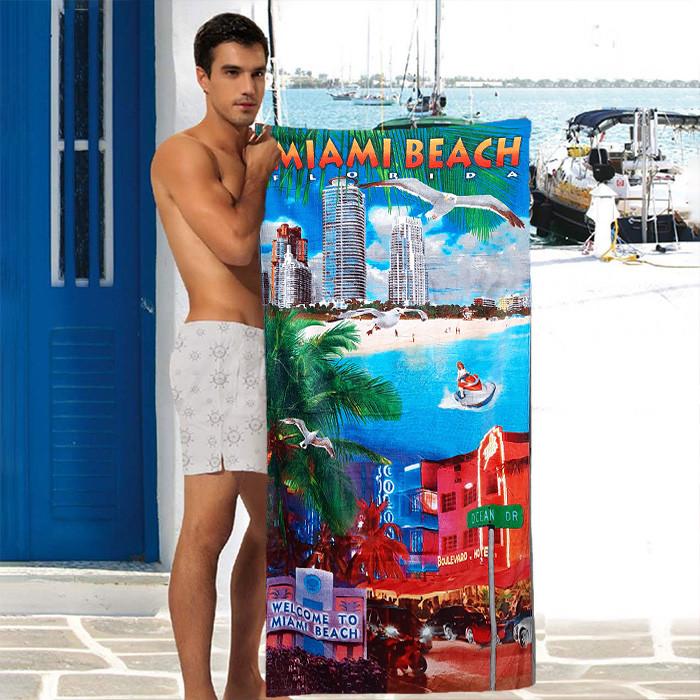 Пляжное махровое полотенце Sport Line - №5832