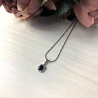 Серебряная подвеска  с сапфиром nano , фото 1