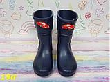 Детские резиновые сапоги непромокаемые темно-синие 28\29, 32\33 р. (19d), фото 4