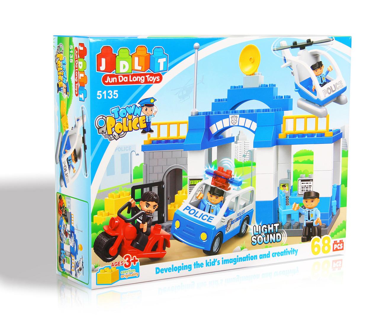 Конструктор JDLT 5135 Поліцейський ділянка 68 дет
