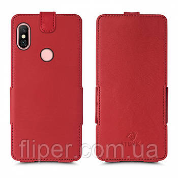 Чехол флип Stenk Prime для Xiaomi Redmi Note 6 Pro Красный
