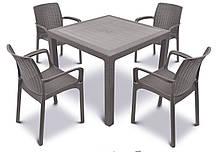 Набор пластиковой мебели MELODY QUARTET Стол + 4 стула
