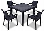 Набор пластиковой мебели MELODY QUARTET Стол + 4 стула, фото 7