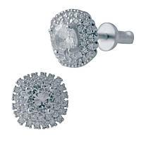 Серебряные серьги  с фианитами , фото 1