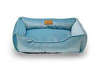 Лежак из велюра для собак Harley and Cho Dreamer Velur Blue 3102505, 50x40 см
