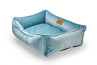 Лежак из велюра для собак Harley and Cho Dreamer Velur Blue 3102507, 90x60 см