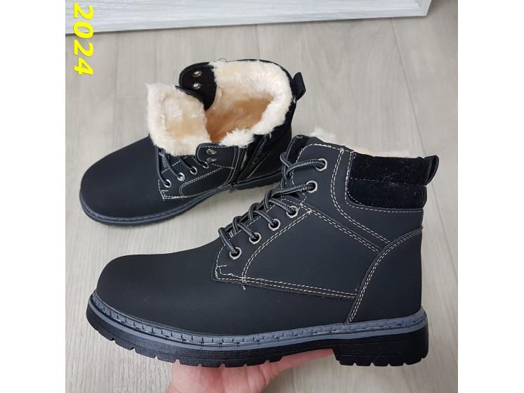 Зимние ботинки тимбер черные классические 36 (2024)