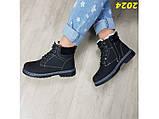 Зимние ботинки тимбер черные классические 36 (2024), фото 5