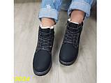 Зимние ботинки тимбер черные классические 36 (2024), фото 6