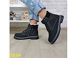 Зимние ботинки тимбер черные классические 36 (2024), фото 7