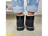 Зимние ботинки тимбер черные классические 36 (2024), фото 8