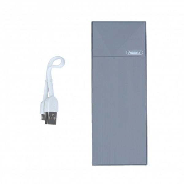 Зовнішній акумулятор Power Bank Remax RPP-54 5000 mah Grey
