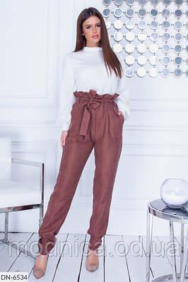 Женский костюм с свитером и брюками, размеры 42, 44, 46