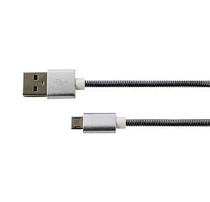 Кабель USB – microUSB металл, фото 2