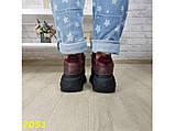 Кроссовки на высокой массивной платформе буффало марсала бордо 40 р. (2051), фото 7