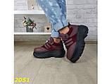 Кроссовки на высокой массивной платформе буффало марсала бордо 40 р. (2051), фото 4
