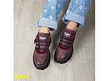 Кроссовки на высокой массивной платформе буффало марсала бордо 40 р. (2051), фото 6