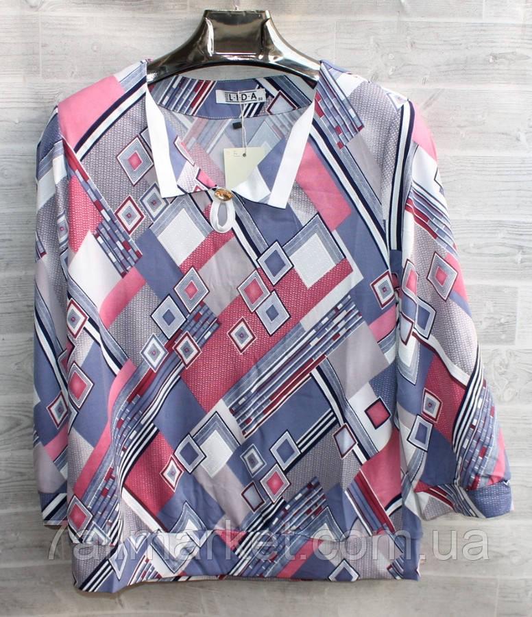 """Блузка женская полубатальная, размеры 50-60 """"LIDA"""" купить недорого от прямого поставщика"""