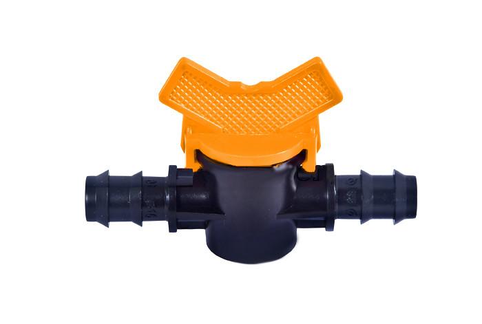 Кран прохідний для краплинної труби 16 мм Aquapulse