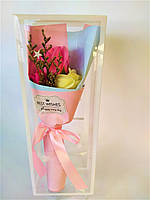 Мыло Букет, цвет розовый