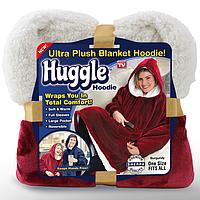 Толстовка с капюшоном, плед из ультра-плюша Huggle Ultra Plush Blanket Hoodie КРАСНЫЙ