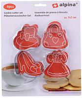 Набор форм для вырезания печенья 4 шт 7х7см Alpina AL 05308