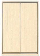 Шкаф-купе Алекса 220х45x190 Венге светлый фасады ДСП профиль Серебро