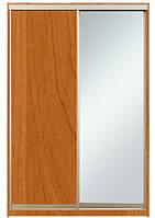Шкаф-купе Алекса 220х45x160 Ольха фасады ДСП+Зеркало профиль Серебро
